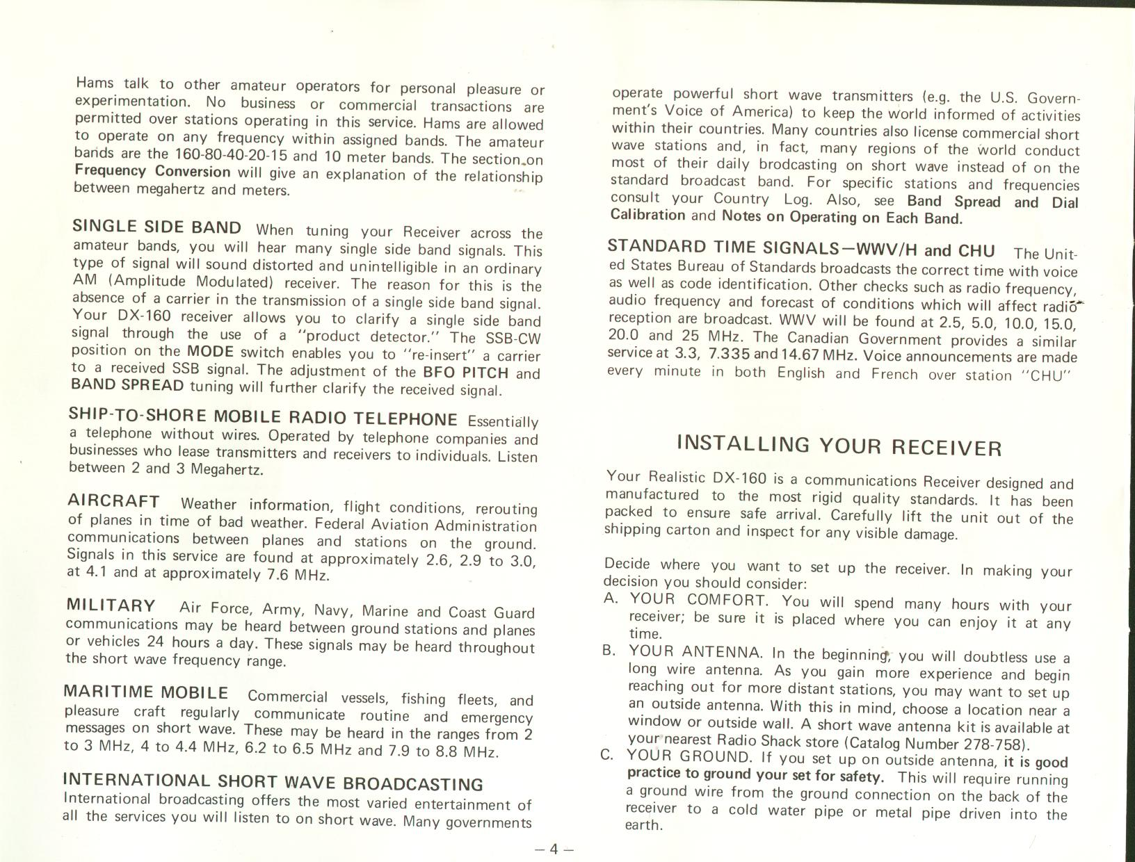 radio shack dx 390 owners manual